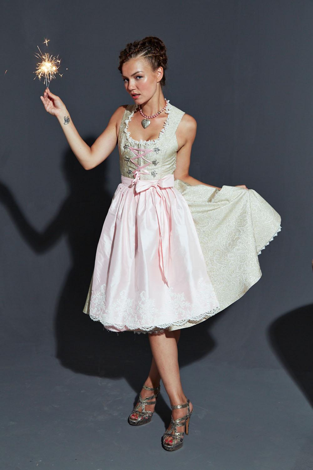 Neat Couture Dirndl Hochzeitsdirndl Maßgeschneidert Handgefertigt Unikat Einzelstück Brokat Seidenschürze